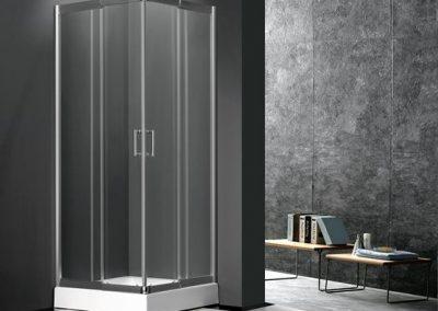 The Athena Frameless Sliding Shower