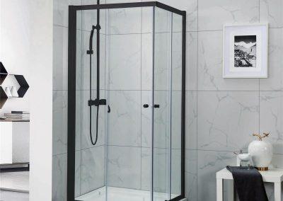 Avanti Corner Sliding Shower Screens- Black